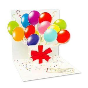 Balloons Pop-Up Card | Up With Paper | The Gifted Type