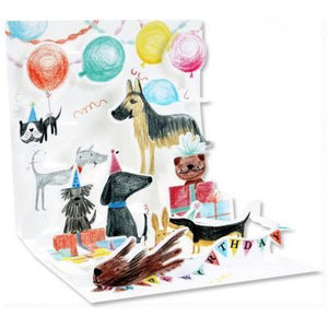 Dog Birthday Pop-Up Card | Up With Paper | The Gifted Type