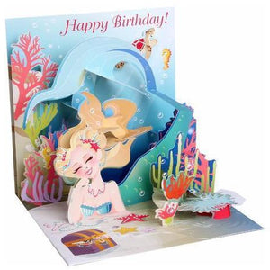 Mermaid's Birthday Pop-Up Card | The Gifted Type