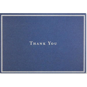 Navy Blue Thank You Notecards