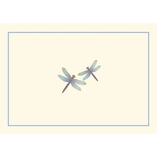 Blue Dragonflies Blank Notecards