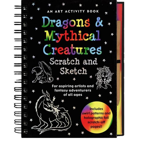 Dragons & Mythical Creatures Scratch And Sketch | Activity Book | The Gifted Type