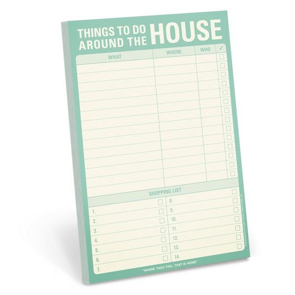 Knock Knock Magnetic Notepad Things To Do Around The House | The Gifted Type
