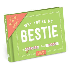 Knock Knock Fill In The Love Journal Why You're My Bestie | The Gifted Type