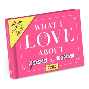 Knock Knock Fill In The Love Journal What I Love About You | The Gifted Type