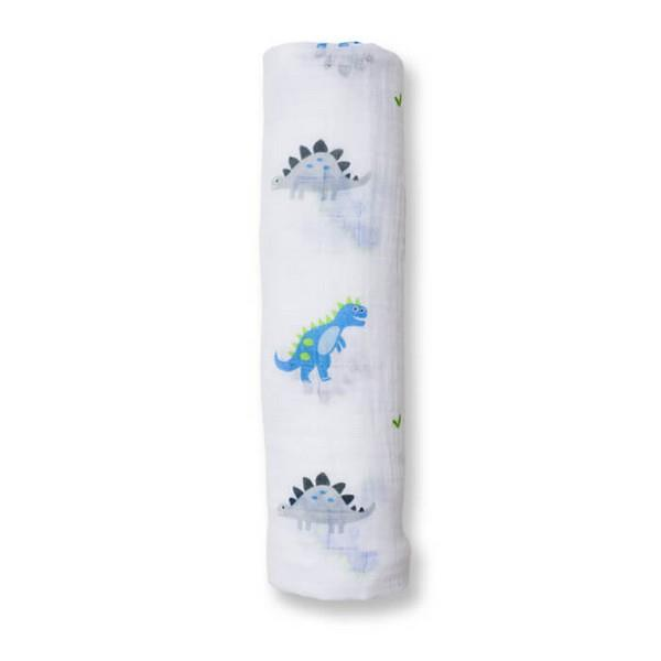 Lulujo Muslin Swaddle Prehistoric Pals | The Gifted Type