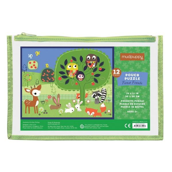 Pouch Puzzle Forest Friends | 12 Pieces | The Gifted Type