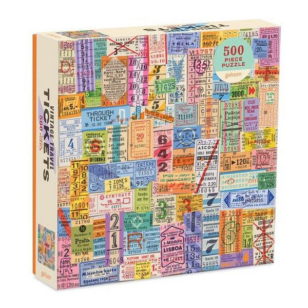 Vintage Travel Tickets - 500 Piece