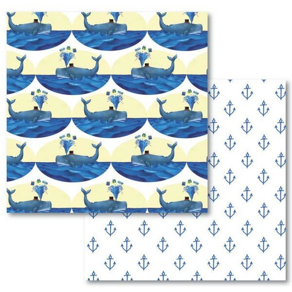 Whale Anchors - Gift Wrap