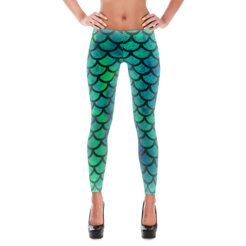 Mermaid Watercolor Leggings