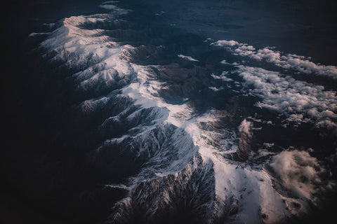 SIERRA NEVADA MOUNTAINS FROM ABOVE