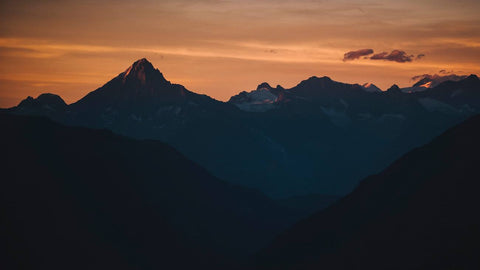 SWISS ALPS AT SUNSET