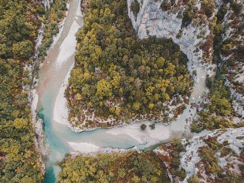 VERDON GORGE FROM ABOVE