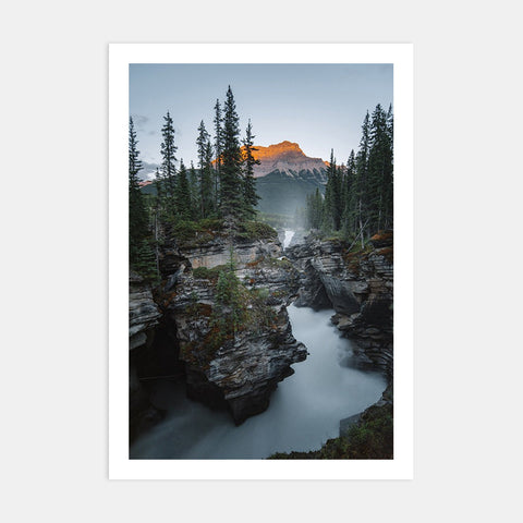 ATHABASCA FALLS AT SUNSET