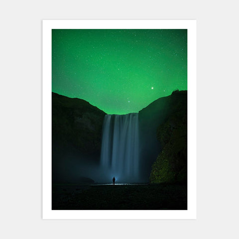 SKÓGAFOSS UNDER NORTHERN LIGHTS II