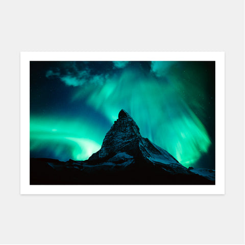 THE MATTERHORN AND NORTHERN LIGHTS