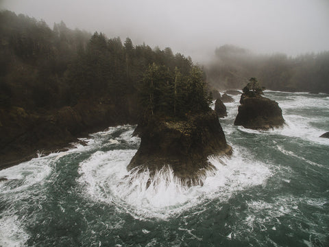 SOUTHERN OREGON COAST FROM ABOVE