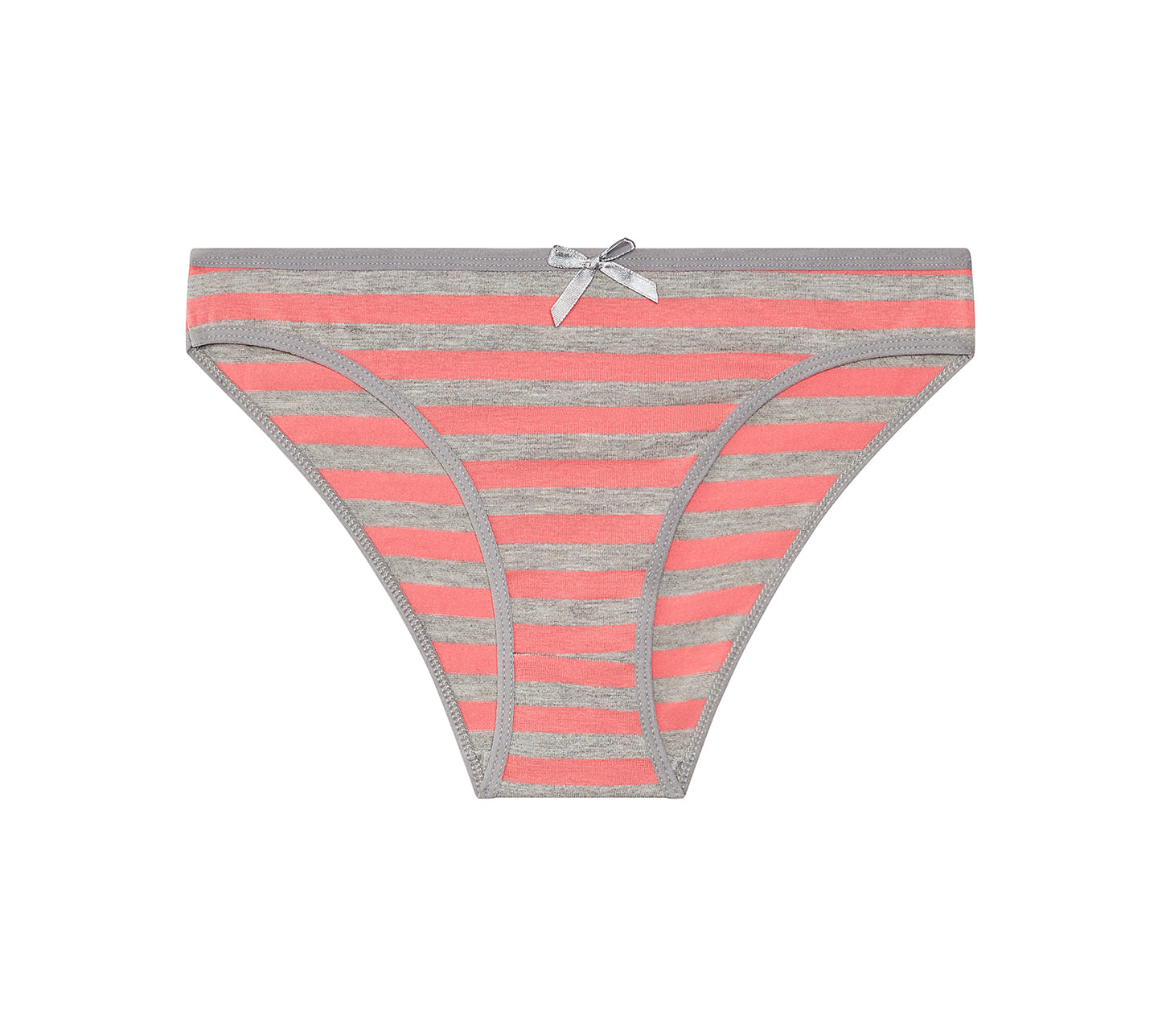 Nabtos Women's Cotton Underwear Bikini Stripes Panties (Pack of 6)