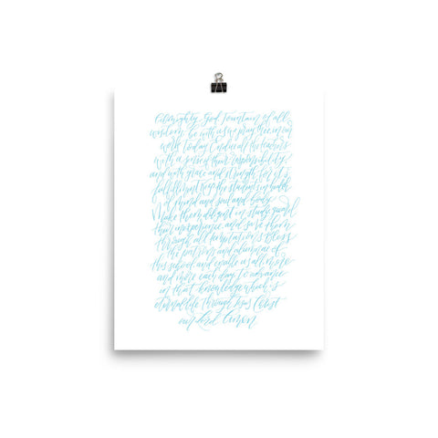 St. Mary's School Prayer Print