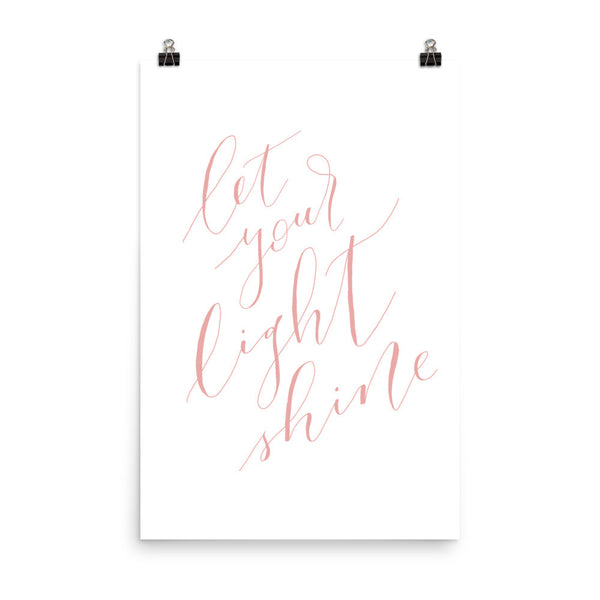 Let Your Light Shine Print