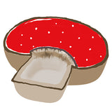 Mushroom Two Sectioned Serving Bowl