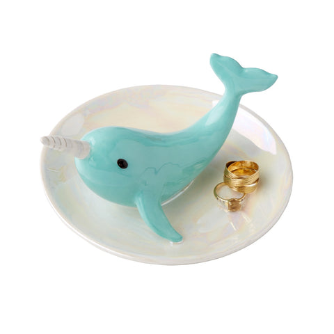 Narwhal Jewelry Plate