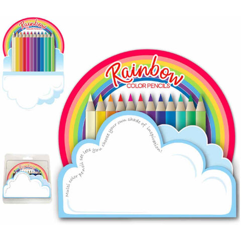 Rainbow Cloud Pad & Color Pencil Set