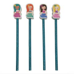 Mermaid Eraser & Pencil Set