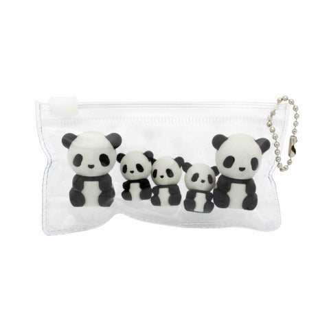 Panda Family Eraser Set