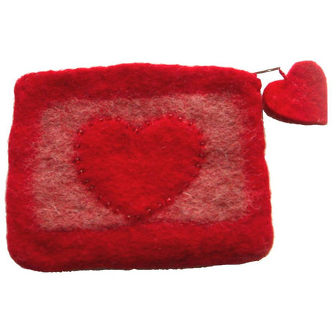 Heartfelt Coin Purse - Red