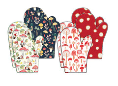 Mushroom Collection Oven Mitt Pair