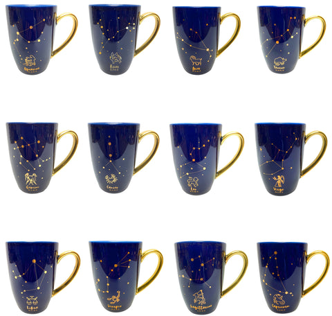 Zodiac Constellations with Gold Detail Mug Assortment