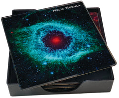 Astrophotography Glass Coasters 6pc Set with Tray