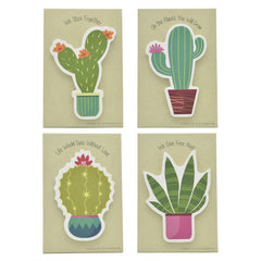 Pop-Up Sticky Notes Stand Up Stationery - Cacti