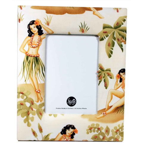 "Hula Girl 4x6"" Picture Frame"