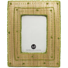 "Jute & Lime Beaded 4x6"" Frame"