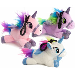 Plush Sound Bag Tag Clip - Unicorn