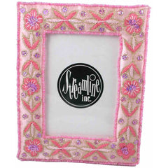 "Pretty In Pink Embroidered 3x5"" Frame"