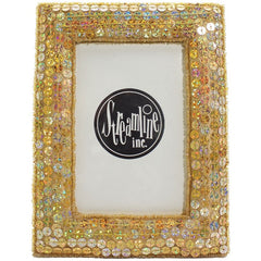 "Gold Sequin 3x5"" Frame"