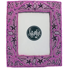 Pink & Burgundy Embroidered - 4x6 Frame