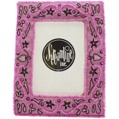 Pink & Burgundy Embroidered - 3x5 Frame