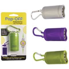 Pop-Off Magnetic LED Flashlight Asst/3