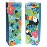 Bottle Gift Bags w/ 6 Glass Markers - Toucan