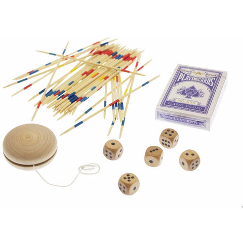 Wooden 4-in-1 Classic Games Set