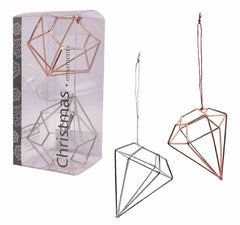 Diamond Ornament - 2 pc set