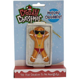 Crooked Santa Ornament- Gingerbread Tan