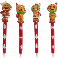Gingerbread Man Emoji Pens
