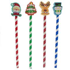 Christmas Eraser & Pencil Set