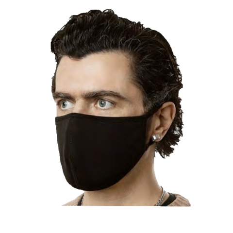 Reusable Black Solid Face Mask