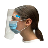 Face Shield With Eyeglass Frame